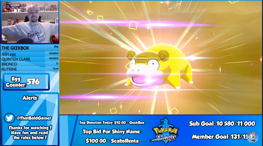 Looks like I had better luck this time.  Still slightly over odds at 576, but I'll take it!  It's a Square Ultra Shiny as well!  Thanks to all who came and showed support!  #Pokemon<br>http://pic.twitter.com/RAO4XUmcr5