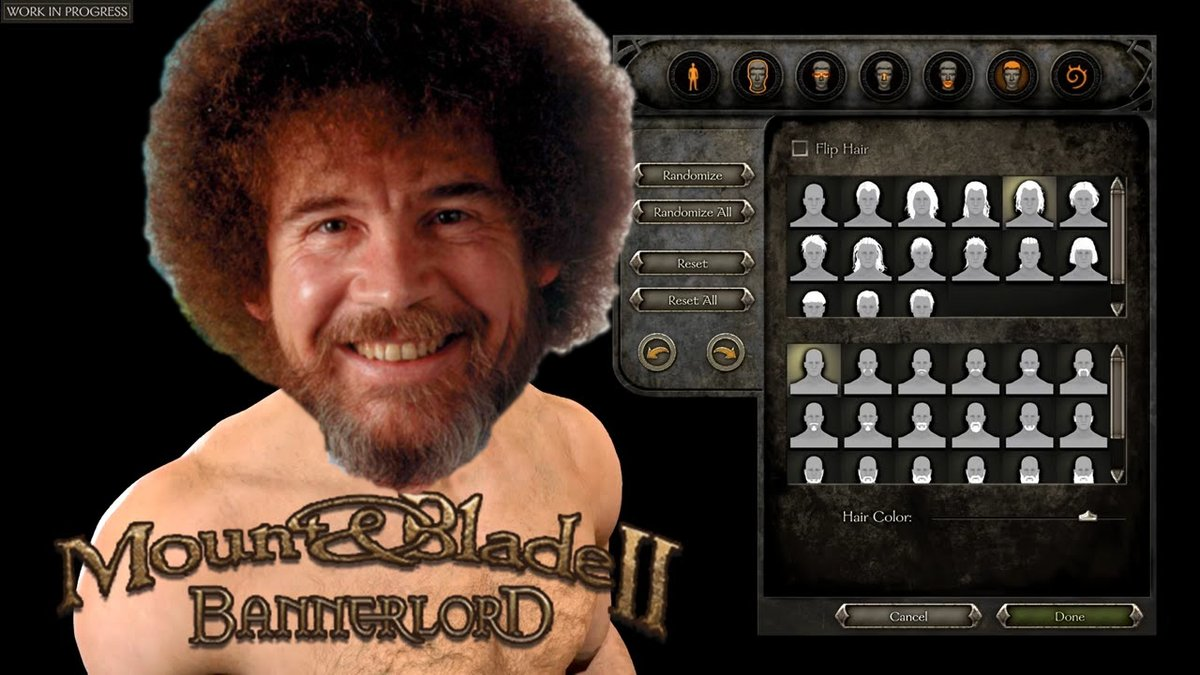 #Bannerlord's character creation system looks so good! I can't wait to create Boss Ross in the engine!   #characters<br>http://pic.twitter.com/jnSX4yyl7A