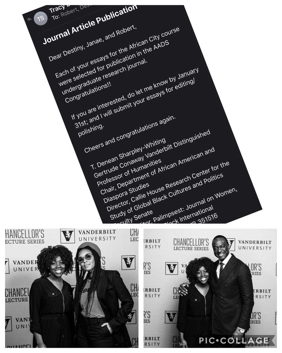 So proud of mommy bae...selected for a private event with @janellemonae and @dr_yusefsalaam AND will soon be a published @vanderbiltu undergrad #limitlessopportunitiespic.twitter.com/7nEbCXxWQc