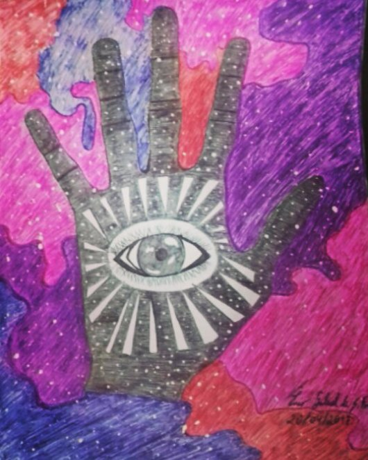 The hand of God... Drawing by Enio Souza #ArtisticDrawings #drawings #Desenhoartistico  #colors #cores #Universe  #godspic.twitter.com/T219ALaXXq