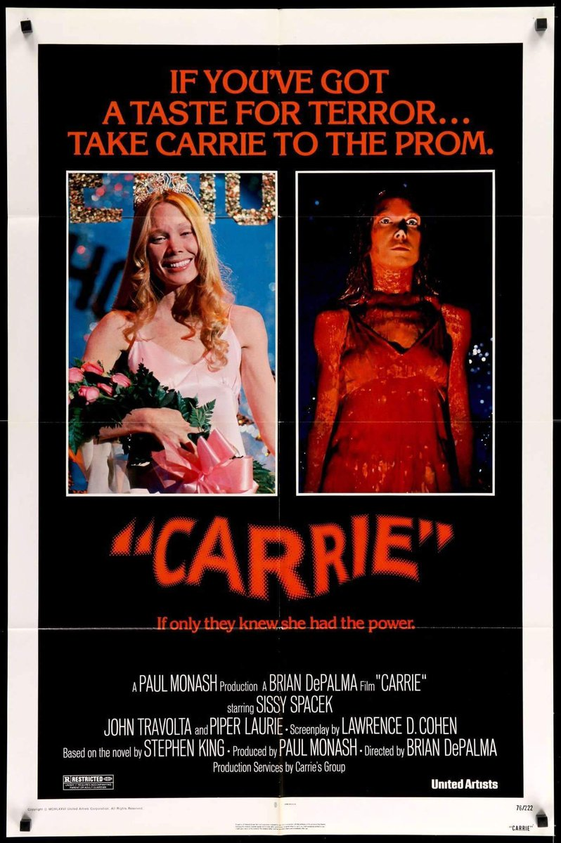 Carrie (1976) Original and Alternative #Rare Posters. #Horror #HorrorCommunity #HorrorArt #HorrorPosters #Carrie #HorrorMovie #HorrorFam #SpreadTheLove