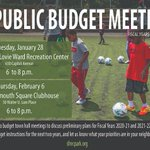 Image for the Tweet beginning: Join us for budget meetings