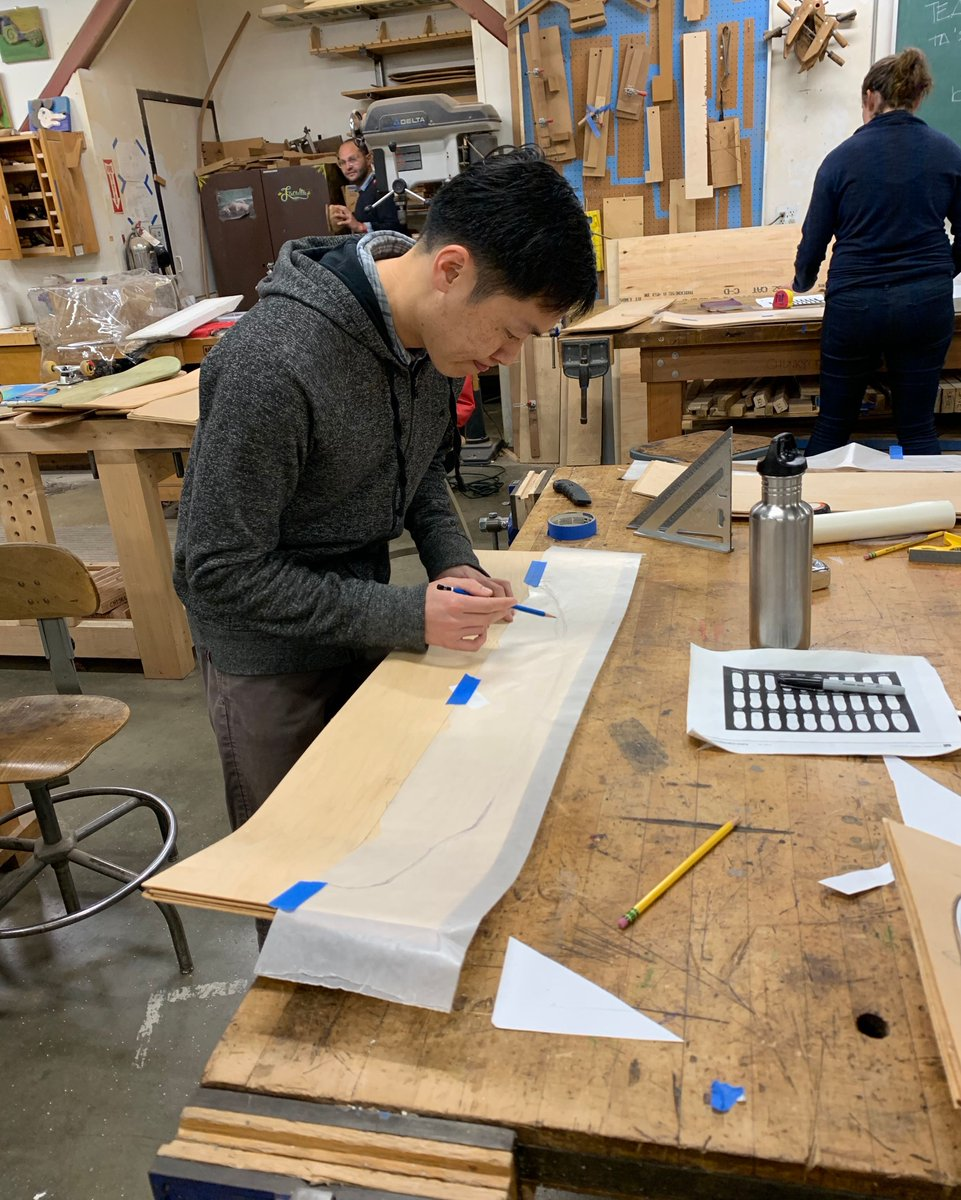 This past weekend at The Crucible was rad!  We held our first-ever Build A #Skateboard class for adults where students learned how to use basic woodworking power tools and hand tools to create custom, seven-layer hard maple wood boards. Great job everyone! #skatelifepic.twitter.com/huTAFk9769