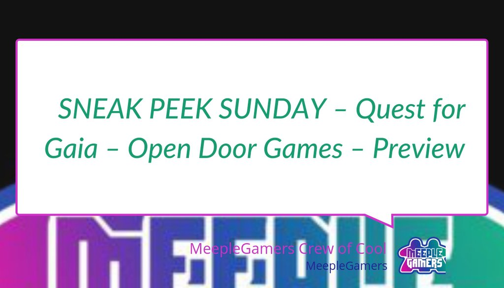 SNEAK PEEK SUNDAY – Quest for Gaia – Open Door Games – Preview https://lttr.ai/Mkmu #Brettspiel #JoshuaFrye #Juegodemesa #4Xgame #Gaia #Boardgames #Tabletopgames #BoardGamePreviews #Facebook #OpenDoorGames #Jogodetabuleiro #Jeuxdesociete #Twitterpic.twitter.com/z1r9tqFQfK