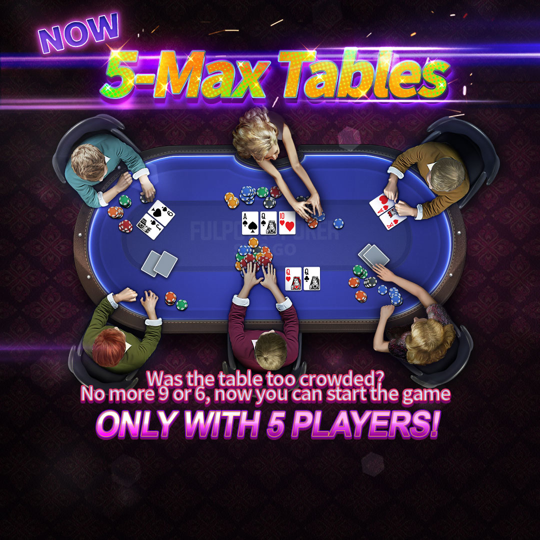 Fulpot Poker On Twitter Play Faster Now Only With 5 Players All Tables Are Now 5 Max Fulpot Poker 5max Faster Gameplay Texasholdem Casino Https T Co Fzqcdiaukk