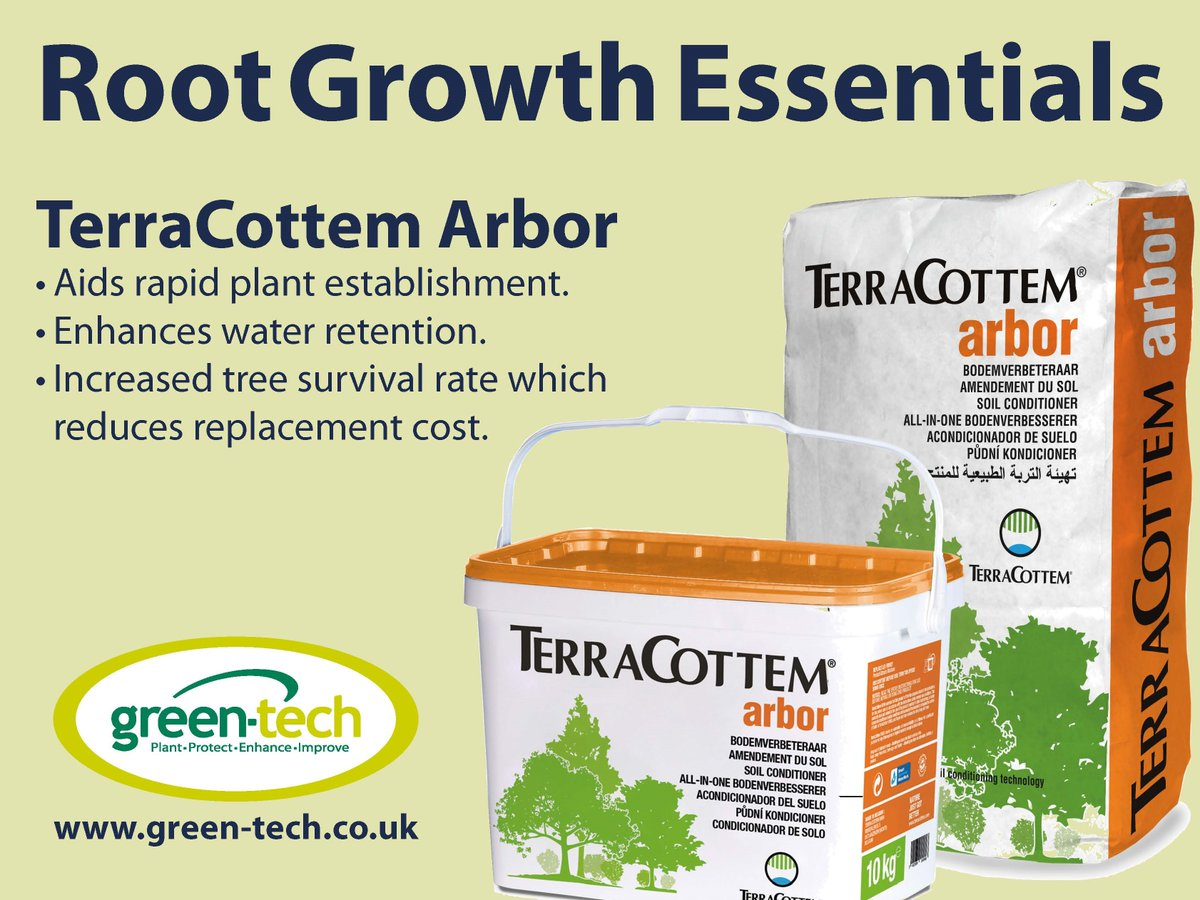 In order to ensure that your #treeplanting projects are carried out efficiently and to the highest standard possible, it is important to use products such as TerraCottem Arbor.  To learn more about the product, click the link below:  https://bit.ly/2RSRdkx  #landscaping #TeamGT pic.twitter.com/bhGxURnVYg