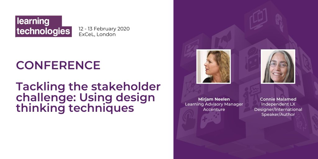 Building a culture of #learning in organisations is a top priority for L&D but is an impossible dream if you can't engage the stakeholders. Well explore exciting design thinking techniques that can unlock barriers to make learning successful @LearnTechUK bit.ly/LT20Stakeholder