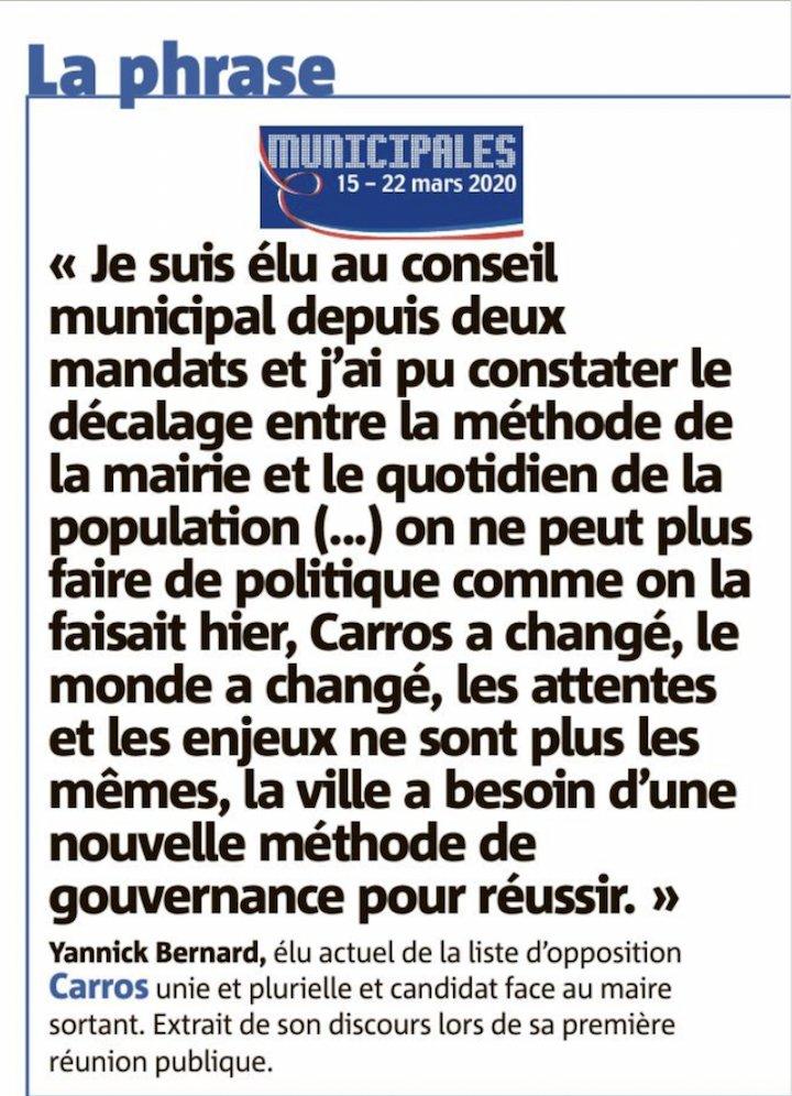 Sécurité, commerces, environnement, urbanisme, Carros doit changer. #MunicipalesCarros #Carros2020 #AvancerEnsemble #CarrosTerredÉnergies #YannickBernard2020 http://www.carrosterredenergies2020.frpic.twitter.com/zhzMKrXLQB