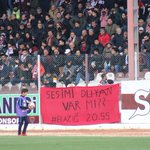 Image for the Tweet beginning: Hatayspor taraftar Menemenspor maçında #Elazığ