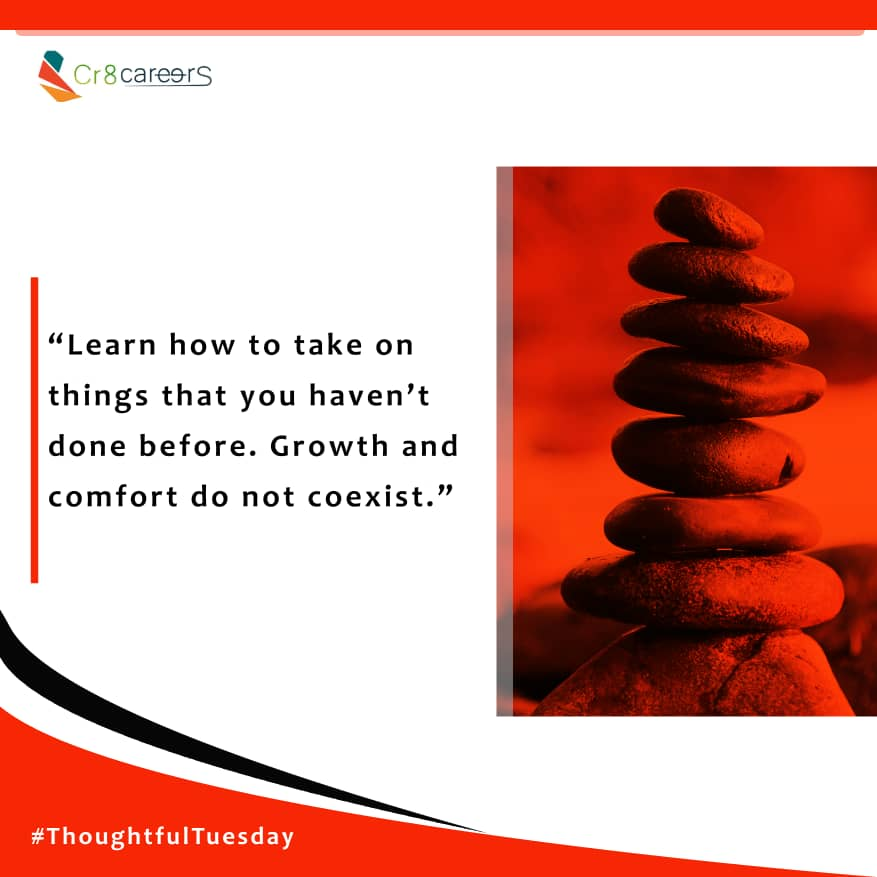 Learn To do things that you haven't done before #ThoughtfulTuesday .  Follow Us@Cr8Careers . #Recruitment #Outsourcing #Assessments #OccupationalInterests #HRNigeria #CreativeBusinessOwner #HappyNewMonthInAdvance  #Learn #tuesdays #EndOfTheMonth #Growth #Comfort #Coexistpic.twitter.com/BYI9eQi3ml