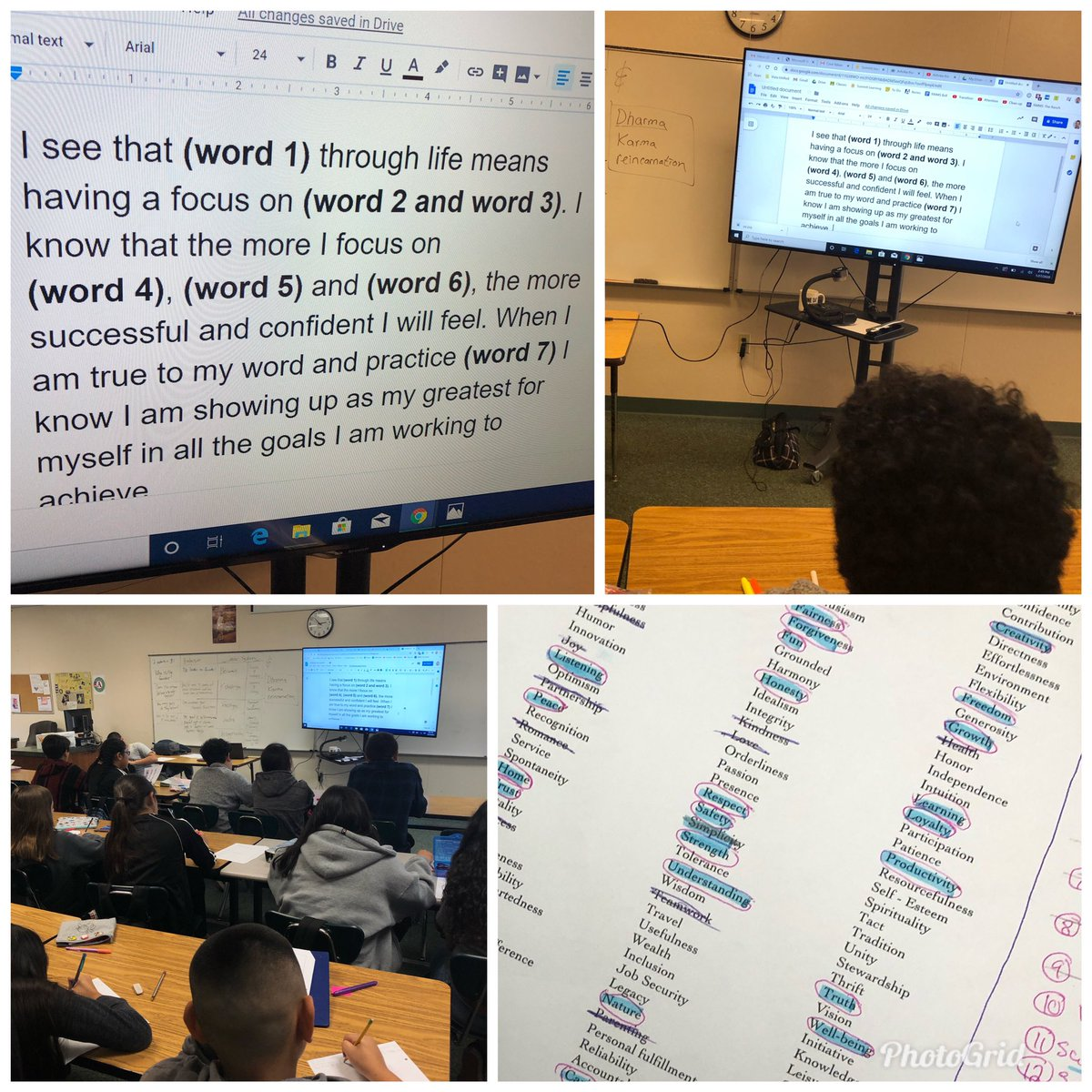 6th grade scholars learning about dharma writing their own personal life purpose statements. #ancientindia #applicablelearning @RMMSbullspic.twitter.com/RwgMcFUPIt