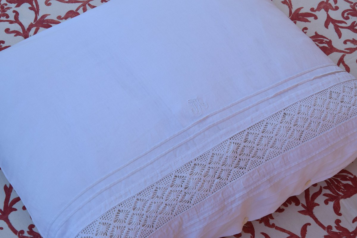 Brauerantique On Twitter French Pillowcase Antique Pure Linen C 1890 Patterns Jh Monogrammed White Bedding Pillow Sham Handmade Embroidery Romantic Dorset Buttons Https T Co Tbyf6xmgor Pillow Pillowcase Pillowshame Antique French Vintage