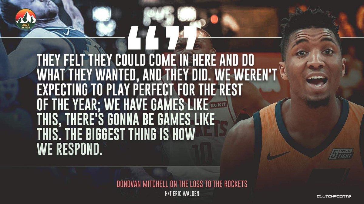 RT @JazzNationCP: You are on point, Donovan Mitchell. 💯  #TakeNote #Jazz https://t.co/ICBFvTVSmf