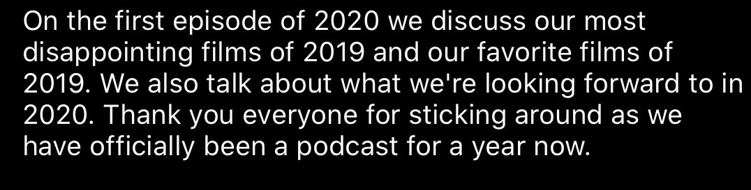 We've officially been a podcast for 1 year!!! We promise we're happy regardless of what the picture conveys lol.   EPISODE 20LINK IN BIO#BETAMAX #BETAMAXULTD #BestOf2019 #WorstOf2019 #MoviePodcast #FilmPodcast #HappyOneYearAnniversarypic.twitter.com/Rqx0CxQewA