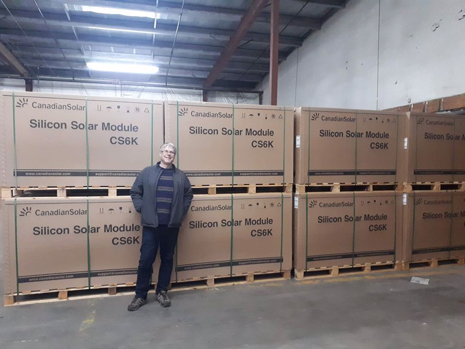 Going to be a busy week ! Another big load of #solarpanels  has arrived in the warehouse ! Better fuel up on #coffee  first ! #RenewableEnergy  is the future !