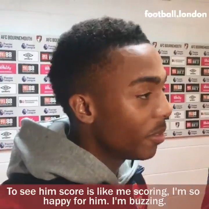 To see him score is like me scoring. Im so happy for him. Im buzzing. 😍 Joe Willock told @jamesbenge about his friendship with Eddie Nketiah and playing under Mikel Arteta