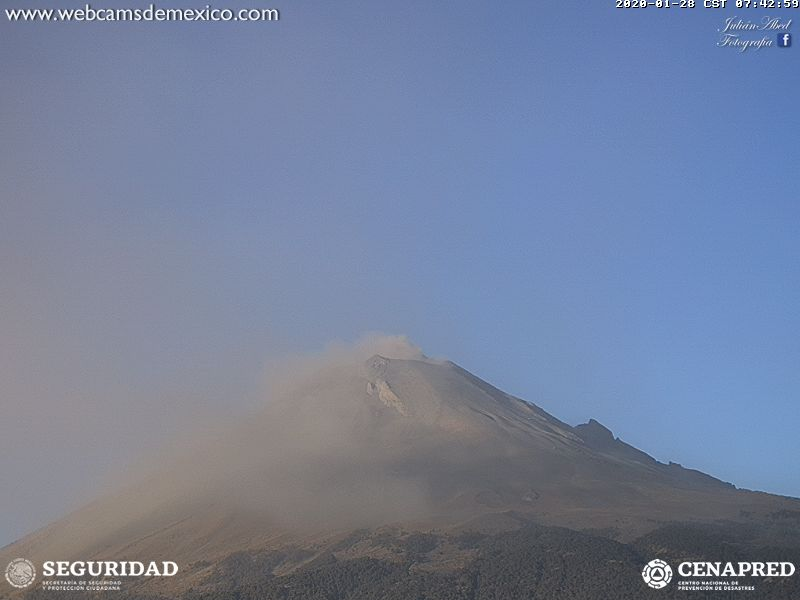Popocatépetl explota