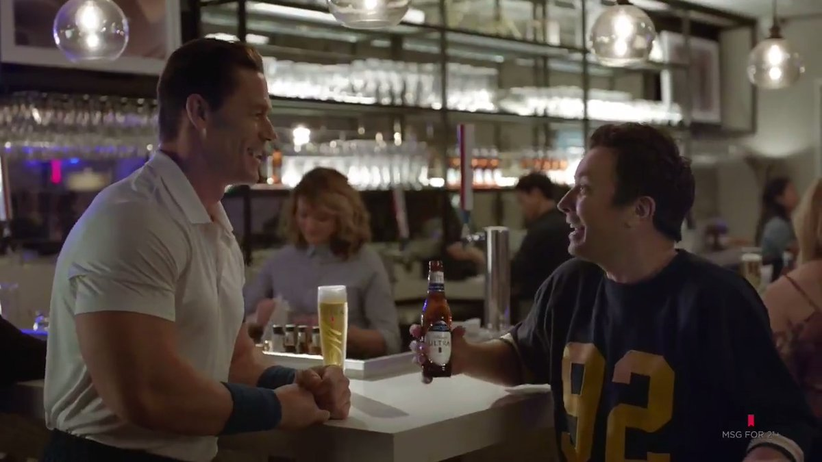 Fitness has never looked so fun. Let @JimmyFallon, @JohnCena, and a few of our pals show you the lighter side of things in our #SuperBowlLIV commercial. @TheRoots @BKoepka @UsainBolt @Kerrileewalsh @BASweat #DoItForTheCheers