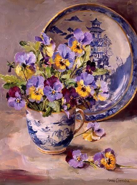 Pansies & blue & white pottery~Anne Cotterill #London  #artistic  #artists  #arts  #iloveart  #ArtStationHQ  #FineArtAmerica  #artvsartist  #artgallery  #artstream  #twitart  #artexhibition  #artstudio  #ArtofLegends  #ArtistOnTwitter  #artsy  #USA  #ArtLovers  #painting