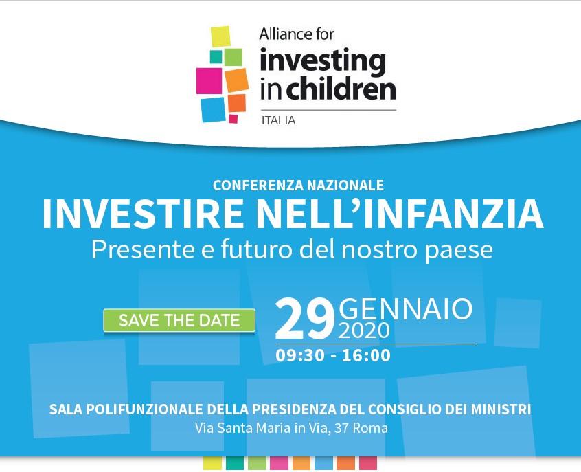 Domani #29gennaio la conferenza nazionale di #InvestingInChildren Italia ore 9.30 a #Roma con @elenabonetti @Rob_Rossini5 @LiciaRonzulli @DavidSassoli @brandobenifei @GBudano Ivano #Abruzzi @SianiPaolo Gianmario #Gazzi @szampa56 Adriana #Cimapa @alberodellavita @ODG_CNOG #Cnoas