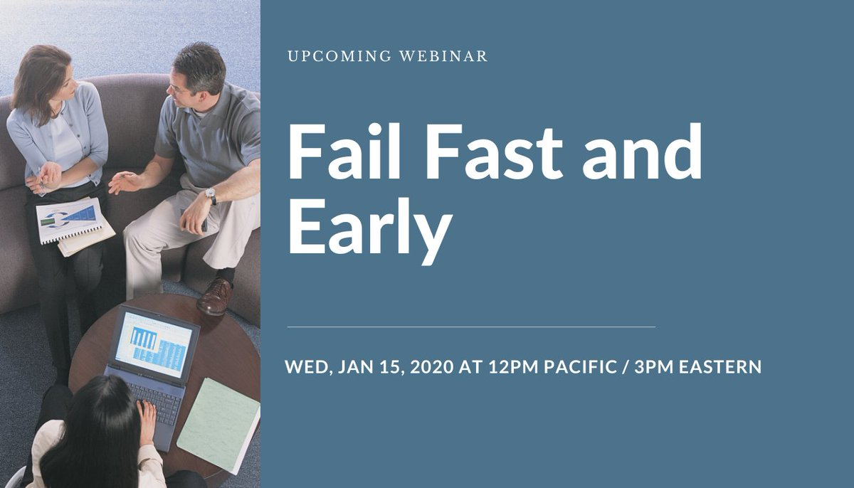Fail Fast and Early & other recorded webinars @RayJimenez, bit.ly/ray_rec #learning #eLearning #TrainingAndDevelopment #LearningAndDevelopment #compliancetraining
