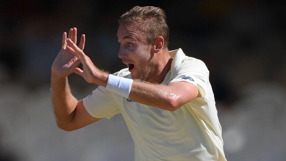 Stuart Broad reprimanded by the ICC following verbal altercation with Faf du Plessis. He's been fined 15% of his match fee & receives a demerit point. Broad has 2 demerit points over a 24-month period. If he reaches 4 he'll face an automatic suspension. #bbccricket #SAvENG