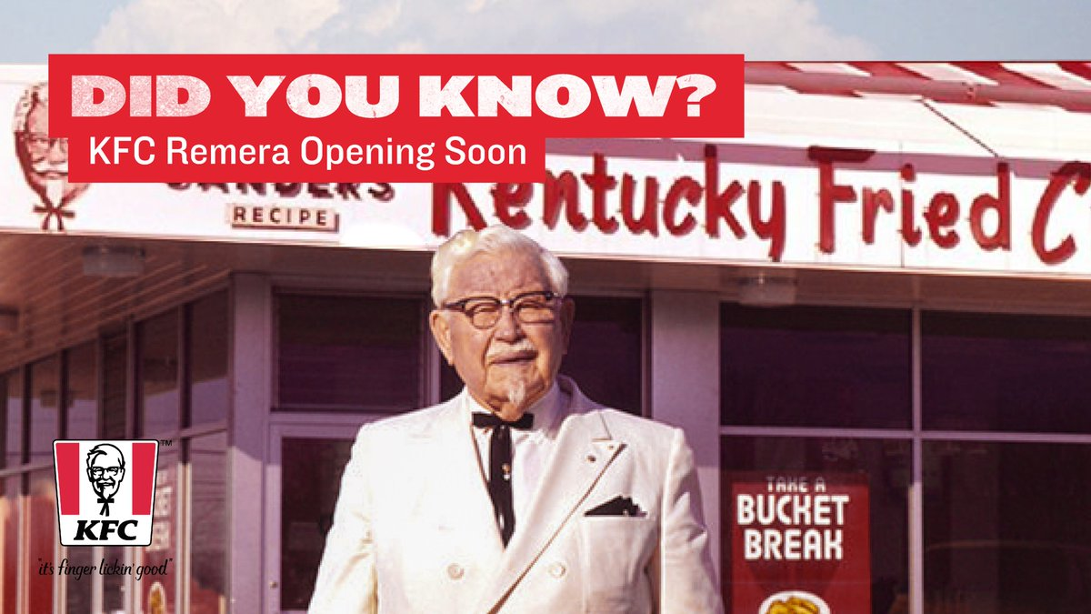 Did you know that our business started from Colonel Sanders'kitchen at his home earlier in 1930? Yeah, one person can impact the whole world!  #KFCRwanda #OpeningSoon #Remera #KFC #Foodies #Yummy #FingerLickinGood #DidYouKnow #TuesdayThoughts