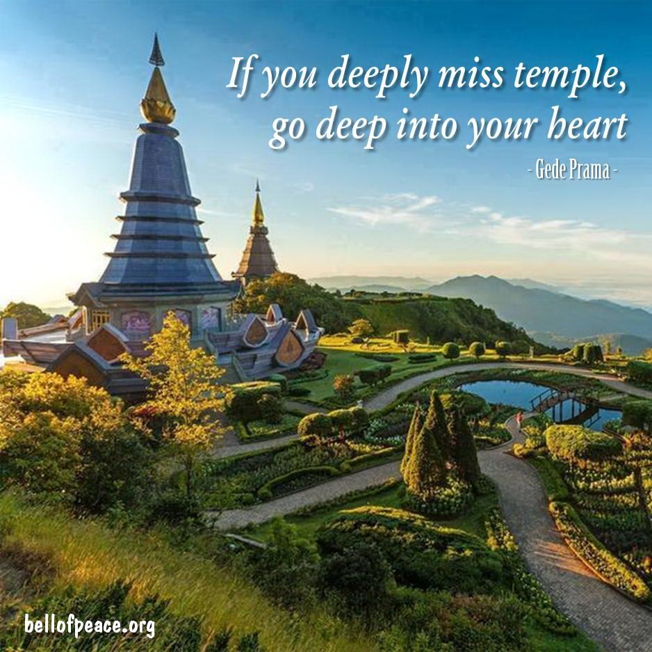 If you deeply... #gedeprama #bali #beauty #happy #healthy #holy #innerharmony #JoyTrain   Photo courtesy: Pinterest