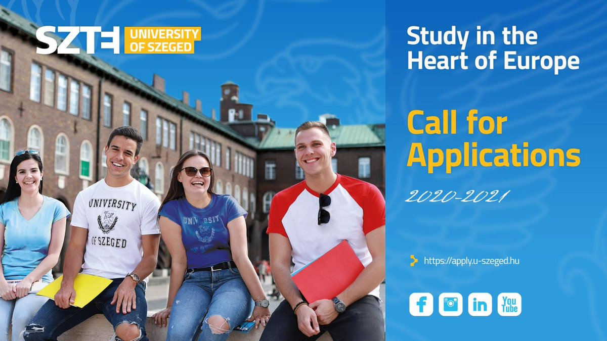 2020-2021 Application at the University of Szeged is now open 🔓  Choose from more than 60 study programmes, study in the heart of Europe 🇭🇺 🇪🇺 🌍 and earn an EU accredited degree 📜   #Universityofszeged #Apply #Europe #SZTE #SZTEinternational #Hungary #Szeged   1
