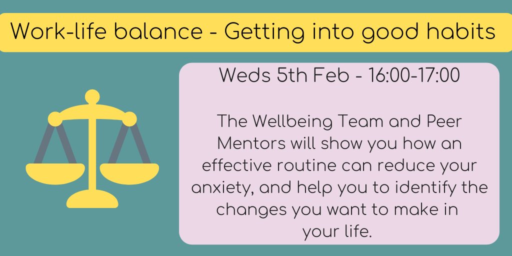 Get into a positive mindset for the new semester and develop an effective work life balance! Book your place on this session, delivered by the Wellbeing team and the Peer Mentors from @livunicareers
