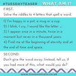 Image for the Tweet beginning: #TuesdayTeaser Some riddles for you today!