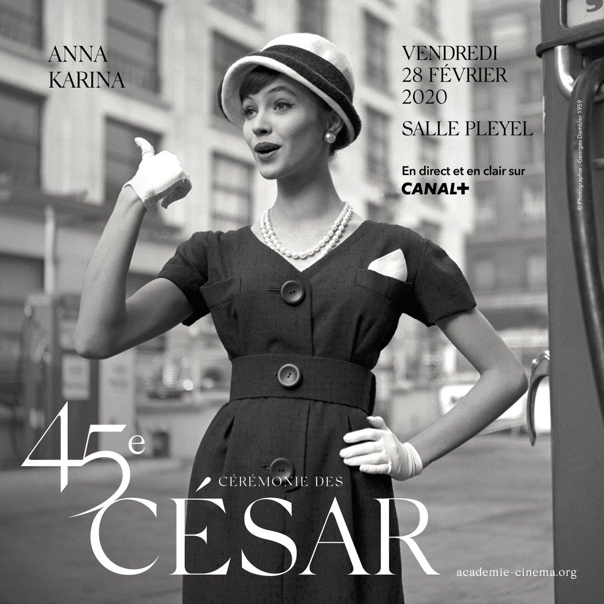 [ CÉSAR 2020 ] J-30 avant la 45e cérémonie des César, le 28 février à la  @sallepleyel.  #SandrineKiberlain présidera cette soirée et #FlorenceForesti sera la Maîtresse de Cérémonie.   Sur l'affiche o