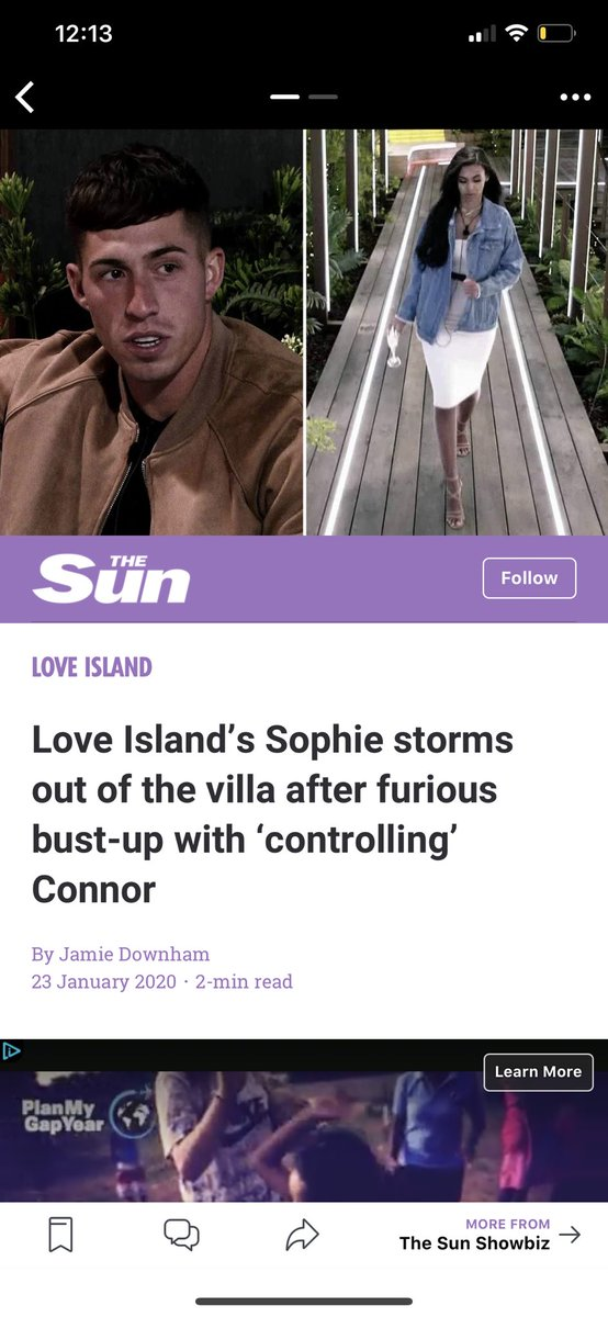 """How is Connor getting called """"controlling"""" when he told Sophie to stay and follow her heart but can we remember when Joanna grabbed Michaels face and told him to leave???? #loveislandpic.twitter.com/sCp43SPhpn"""