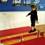 Image for the Tweet beginning: During gymnastics, the Reception class
