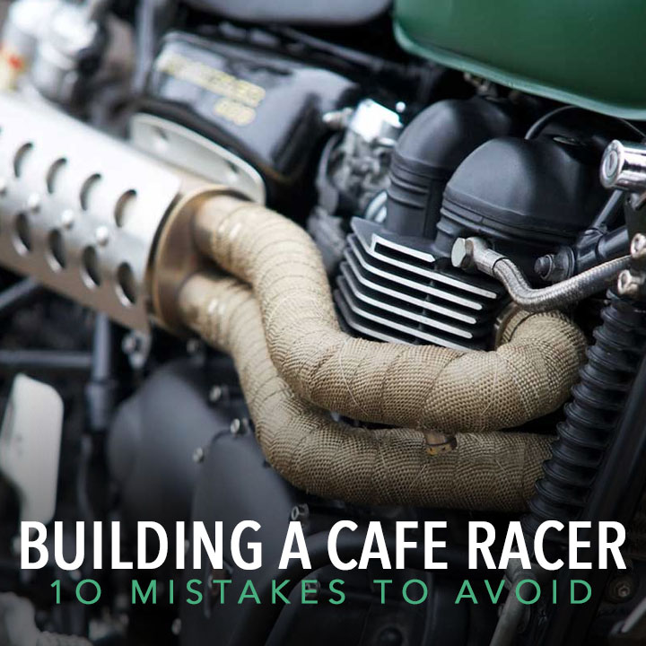 Exhaust header wrap. Number 8 on our list of '10 mistakes to avoid when building a cafe racer'. Read the full list at http://returnofthecaferacers.com  #caferacer #motorcycle #twowheelspic.twitter.com/6eIUejrNfS