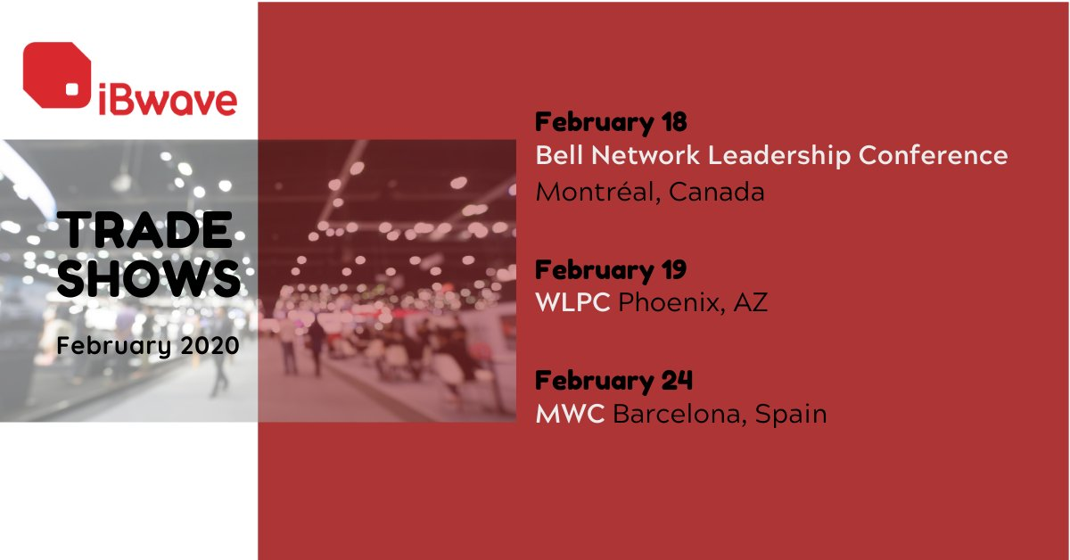 Very excited to be attending Bell Network Leadership Conference in Montreal, #WLPC 2020 Phoenix and #MWC20  Barcelona in the next month to tell you all about our innovative solution for this year! See you there?pic.twitter.com/4rEteyKJiy
