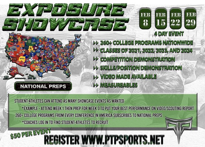 Get EVALUATED for 260+ colleges from every conference & every level by #NPvisor of National Preps!! A NO BRAINER way to reach college coaches!!  @PTPolynesian   Session 1 & 2 - Ayala HS on February 8 & 15 Classes of 2021 / 2022 / 2023 Sign up - http://ptpsports.netpic.twitter.com/UB6fIfaka9