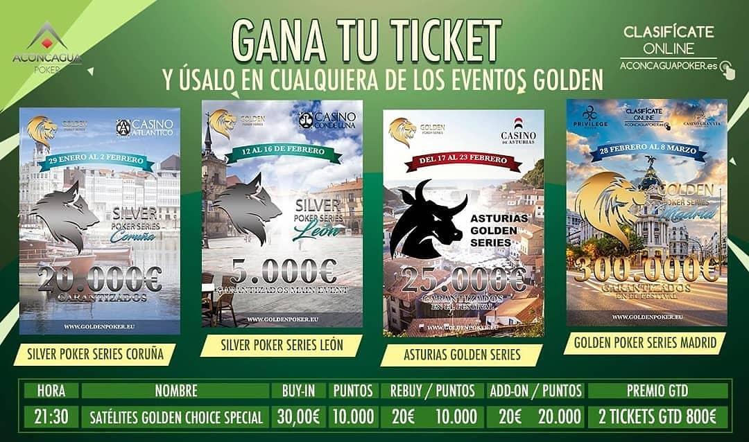 𝗦𝗮𝘁é𝗹𝗶𝘁𝗲 𝗚𝗼𝗹𝗱𝗲𝗻 𝗖𝗵𝗼𝗶𝗰𝗲 𝗦𝗽𝗲𝗰𝗶𝗮𝗹  𝗗í𝗮𝘀 Martes, Jueves y Domingo 𝗛𝗼𝗿𝗮 21:30 2 𝗘𝗻𝘁𝗿𝗮𝗱𝗮𝘀 𝗚𝘁𝗱  800€  ¡Gana tu ticket y elige como usarlo con las múltiples opciones que te ofrecemos!  http://www.goldenpoker.eupic.twitter.com/au4PXThJ6c