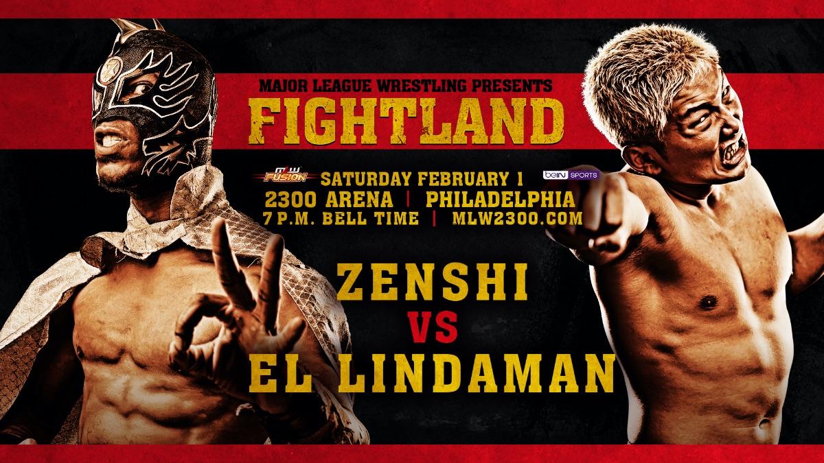 MLW Announces El Lindaman Vs. Zenshi For FIGHTLAND