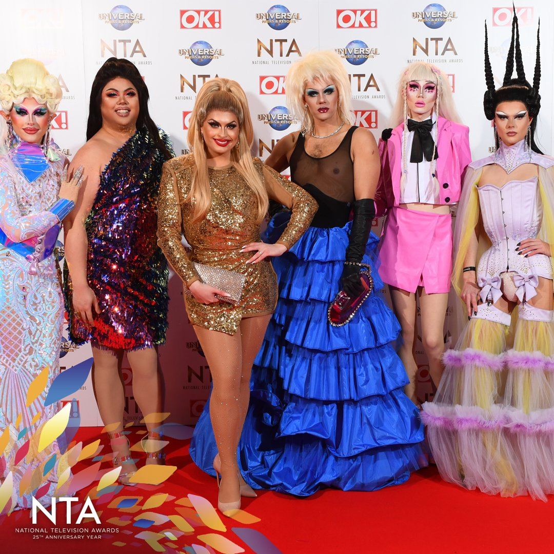 It's great to have the @RuPaul Queens joining us tonight, nominated for the Entertainment Award!  #NTAs
