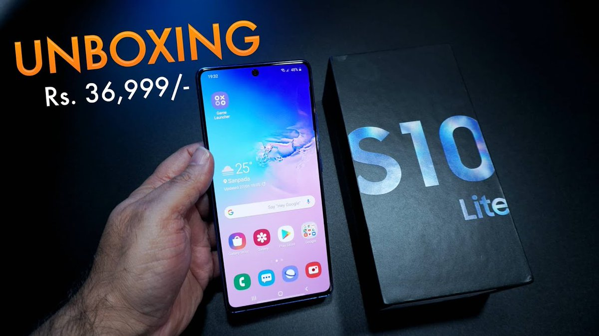 #Samsung #GalaxyS10Lite #unboxing and first impression (8GB/128GB) https://youtu.be/ulGd7le6zSUpic.twitter.com/YLk1hIDGG7