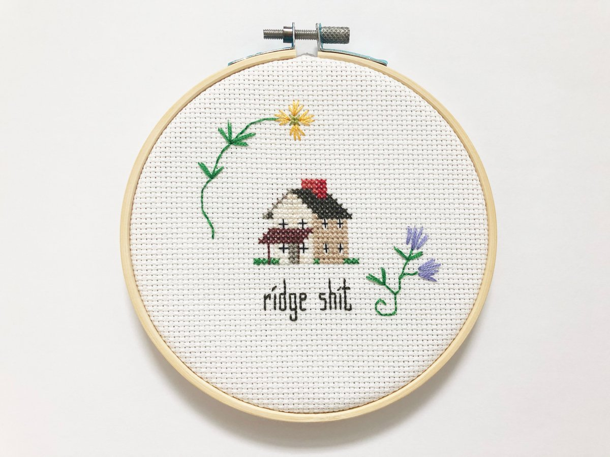 If you want your own #ridgeshit cross stitch, head over Amy's Etsy page and get one!