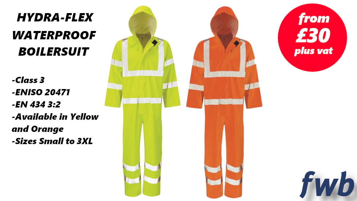 Stay dry and be seen with the superb Hydra-Flex Waterproof Hi-Vis Boilersuit, part of our Big-In Weather Essentials promotion!   Available in Yellow or Orange!   Shop Now: http://ow.ly/RZqc50y6XMN  #Essentials #Unmissable #FWB2020 #BigIn #Stoke #Wrexham #Truropic.twitter.com/End9BgEszv