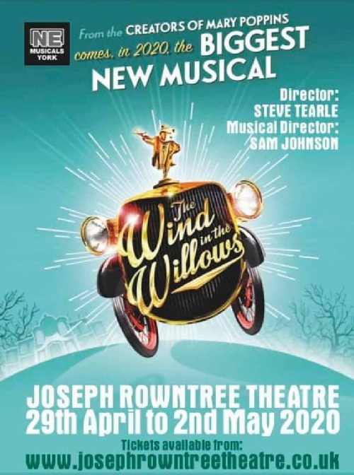 "NE Musicals YORK present ""THE WIND IN THE WILLOWS"" see http://www.dramagroups.com  #Shows #Apr2020 #May2020 #amdram #breakaleg @NMusicalspic.twitter.com/njAbHUaClW"