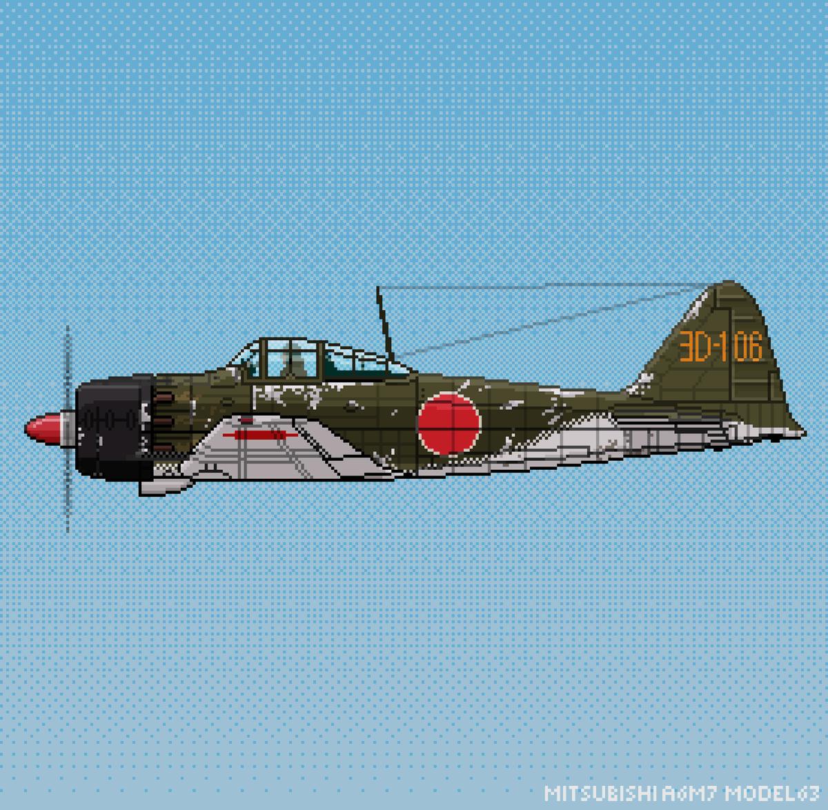 WW2 Pixelplanes – Today the A6M7 Zero #zero #a6m7 #mitsubishi #zeroplane #zeropixelart #pixelart #mitsubishi #art #avgeek #avnerd #pixel_art #pixelartist #pixels #pixel #aviation #aviationeverywhere #aviationdaily #warbird #warbirds #ww2 #asprite #digitalartist #16bit #ドット絵pic.twitter.com/W7iPdwUOQ7