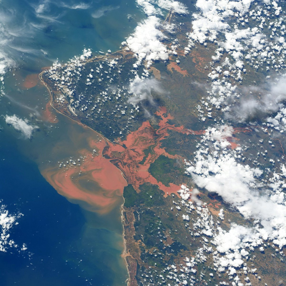 Northwest Madagascar, where the rivers run red in extreme flooding. Our thoughts are with those affected. Stay safe.