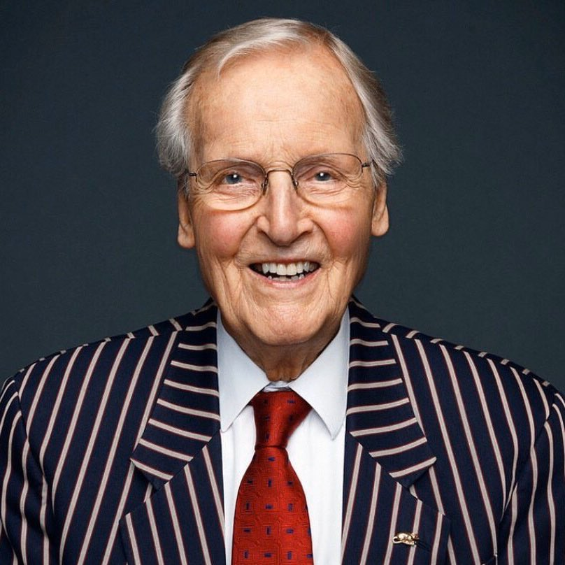 "So sad to hear of the death of Nicholas Parsons. Huge cricket fan & supporter of the game. Parsons was the ""View from the Boundary"" in my first Test as TMS Producer @HomeOfCricket in 2007. We had two ""Views"" that game. Parsons at 83 & Daniel Radcliffe at 18. #bbccricket"