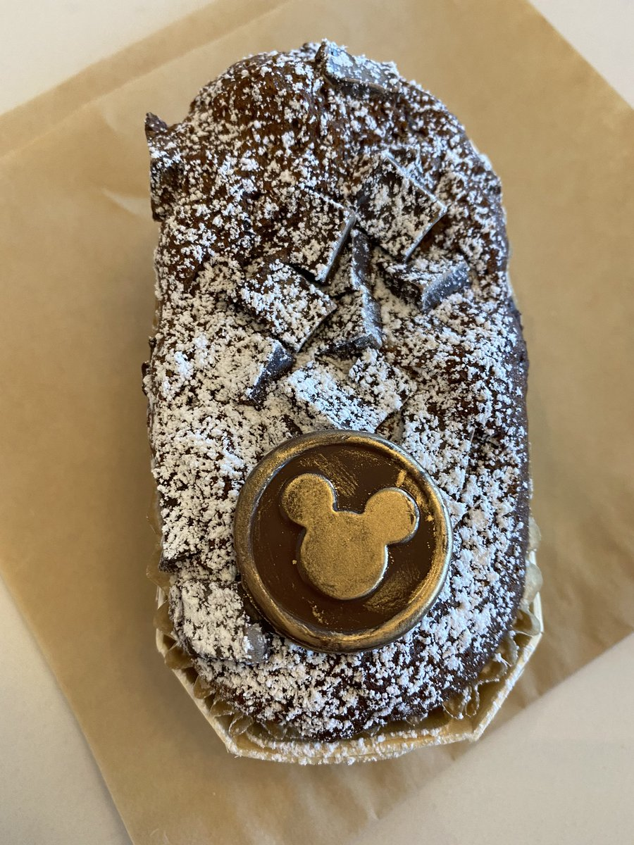 The Mickey on this banana bread sold me. :) It also has chocolate chunks - at Primo Piatto, Disney's Riviera Resort. #wdw #disneyworld #mickeymouse