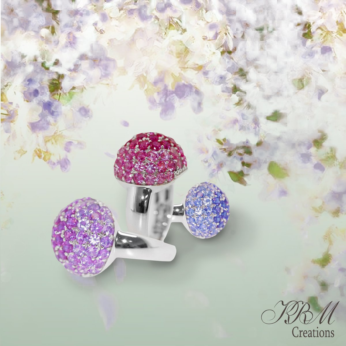 #corandum #ring #pink #pinkcorandum #amethyst #bluesapphire #purple #highjewelry #ijo #clusterring #facet #gold #jewelry #jewels #highjewelart