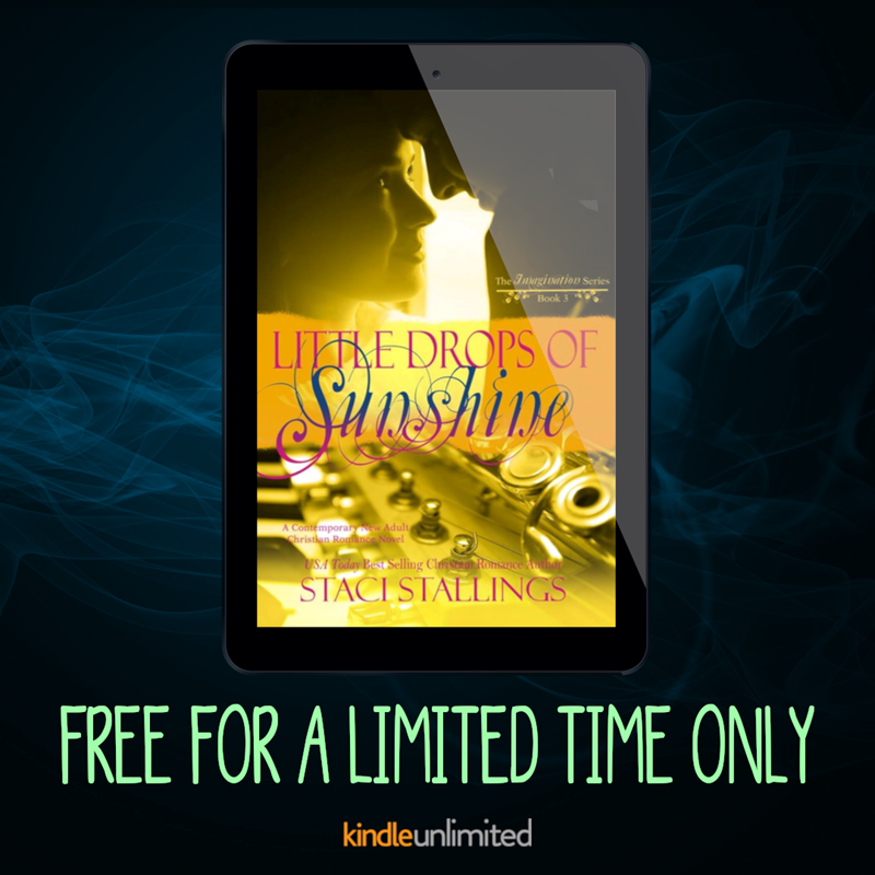 ★ FREE READ ★ #LittleDropsOfSunshine by @StaciStallings #ImaginationSeries #newadult #na #christianromance #contemporaryromance #cleanromance #sweetromance #romance #lovestory #hea #ku #kindleunlimited #freebies #iartg #ian1 #asmsg @PureTextuality